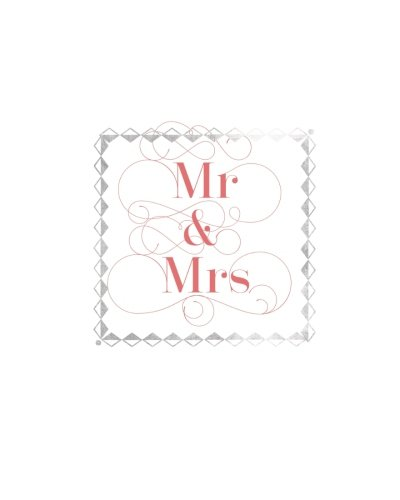 Mr & Mrs: Silver & Pink Wedding Planner Notebook | Plan Your Wedding & Future Together With The Wedding Planner | Wedding Organizer with 100 pages | 8