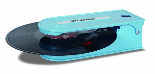 Discover Bargain Sylvania Turntable Record Player with USB Encoding, Blue