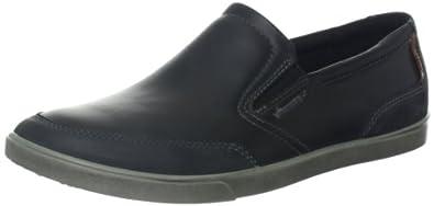 ECCO Men's Collin Slip-On 爱步13新款科林真皮休闲一脚蹬 黑色$104.96