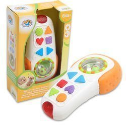 Pretend Tv Remote Control Baby Toy Colored Lights and Sound