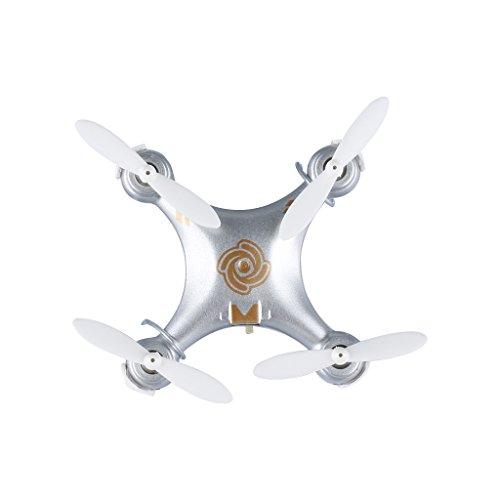 Cheerson® CX-10A Mini Drone Cuadricóptero Quadcopter RTF - 2.4G 4CH 6 Ejes Modo sin Cabeza RC Minicóptero (Plateado)
