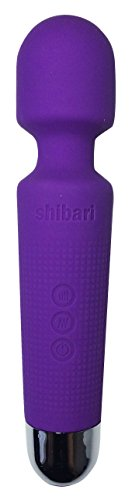 Shibari Mini Halo 20X Multi-Speed Wireless Power Wand Massager, Purple