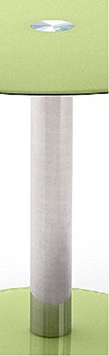 Tisch-Glastisch-Kchentisch-Beistelltisch-EsstischSulentisch-rund-Sicherheitsglas-lackiert-apfel-grn-grn-apfel-Sule-verchromt-Durchmesser-Tischplatte-100-cm-Bodenplatte-495-cm-B-H-T-100-77-100-cm