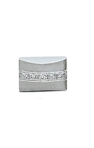 14K White Gold Pillow Tie Tac-86454