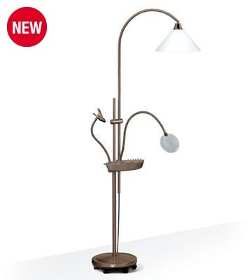Daylight Ultimate Floorstanding Lamp in Antique with 20 Watt Energy Saving Daylight Bulb NEW FLEXIBLE GOOSENECK