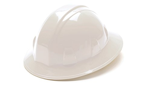 Pyramex White Full Brim Style 4 Point Ratchet Suspension Hard Hat (White Full Brim Hard Hat compare prices)