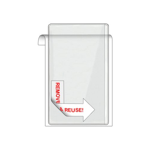 "Storesmart® Remove & Reuse - 25 Pockets - 3"" X 5"" - Open Long Side - Vinyl Plastic (Psr164S25) front-441088"