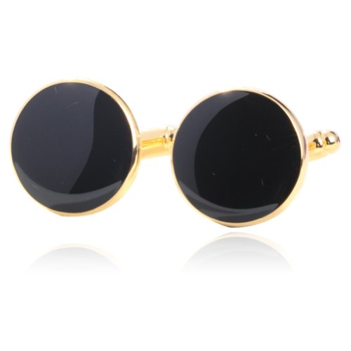 Black-Enamel-Cufflinks-18K-Platinum-Plated-Gift-Boxed-By-Digabi