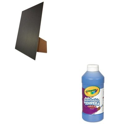 Kitcyo543115042Geo27119 - Value Kit - Geographics Easel Backed Board (Geo27119) And Crayola Artista Ii Washable Tempera Paint (Cyo543115042)