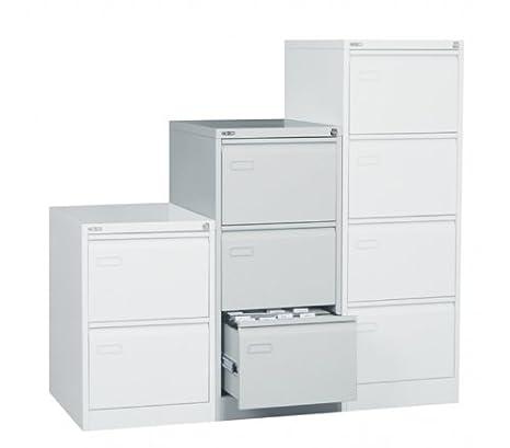 Blue Box 3 Drawer Steel Filing Cabinet - Black
