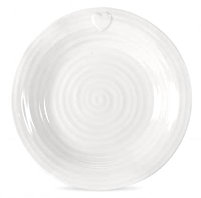 Sophie Conran For Portmeirion Embossed Heart Dinner Plate, White, Set of 4 from Portmeirion