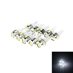 See T10 3W 180lm 6 x SMD 5730 LED White Light Car Lamp - (DC 12V / 10 PCS) , Blushing Pink Details