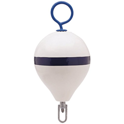 Polyform Mooring Buoy w/Iron 17 Diameter – White Blue Stripe