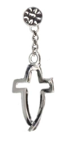 Pack of 6 Dimensions of Christ Ichthus Crossfish Silver-Plated Lapel Pins