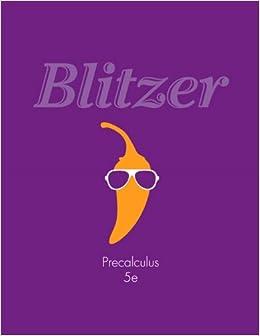 Blitzer precalculus 5th edition pdf