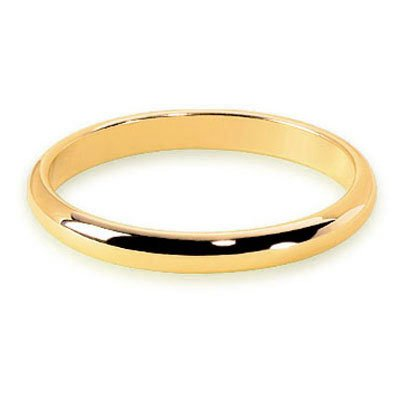 Helios Bijoux Men and Women's Wedding Ring 2.5 mm, 18 Carat Gold Yellow, 57 New Certificate of Authenticity-Made in France