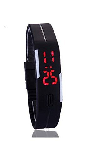 CurioCity LED Watches Unisex Silicone Rubber Touch Screen Digital Watches, Bracelet Wristwatch - color available (Black ,dark blue, white, Blue)