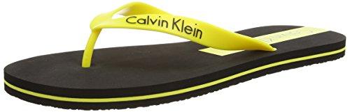 Calvin Klein Infradito, Uomo, Giallo (BLACK/BLAZING YELLOW CL3), 43/44 (Taglia produttore: L)