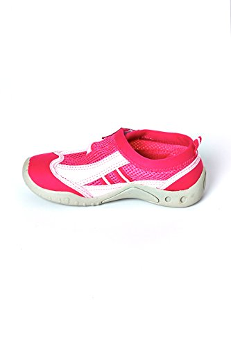 High Style Little And Big Kid'S Aqua Water Shoes - Beach Shoes With Velcro Closure (Fuchsia, Us 3 Kid) front-1084101