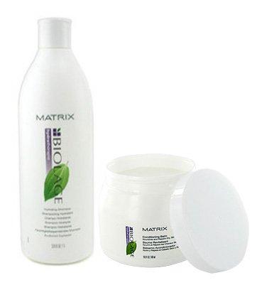 Matrix Biolage Hydratherapie Hydrating Shampoo 33.8oz and Conditionin Balm 16.9oz Set