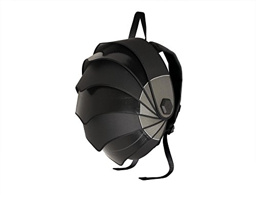 Cyclus Pangolin Backpack made of reused tyre inner tubes, Black / Grey inner lining