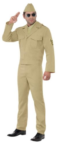 Smiffy'S Ww2 American Gi Costume, Beige, Medium