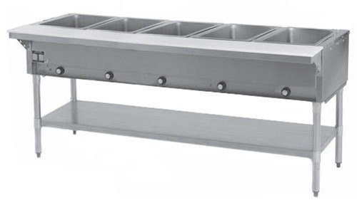 Natural Gas Eagle Group SHT5 Steam Table 5 Well - All Stainless Steel - Open Well