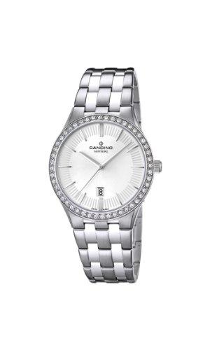 Candino C4544/1 - Reloj analógico de cuarzo para mujer, correa de acero inoxidable color plateado