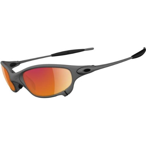Oakley Juliet Men's Active Race Wear Sunglasses – Color: X Metal/Ruby Iridium