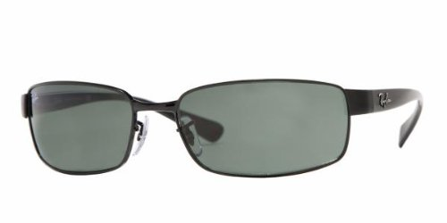 Ray-Ban RB 3364-002 Black-Frame Sunglasses With Crystal Green Lenses- 62mm