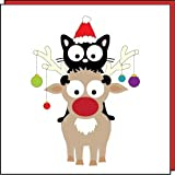 My Cat Pip Christmas Cards (My Cat Pip Rides Rudolf)