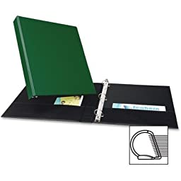 Averyamp;reg; - Durable EZ-Turn Ring Reference Binder for 11 x 8-1/2, 1amp;quot; Capacity, Green - Sold As 1 Each - Unique EZ-TurnTM ring design for smoother page turning.