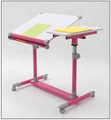 Europa Craft Split Top Table Color: Pink / White