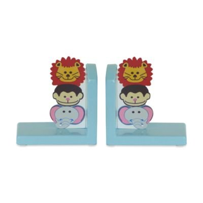 Studio Arts Kids Jungle Room Printed Wood Bookends