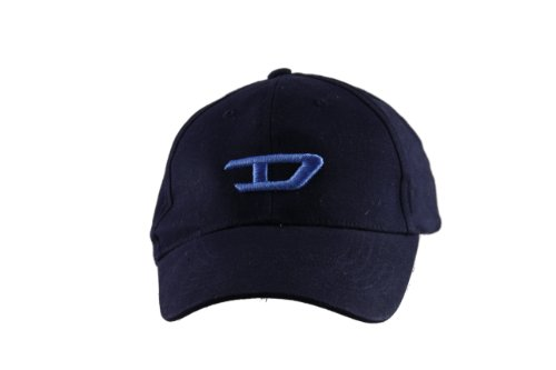 Unisex adjustable D logo baseball cap (Blue)