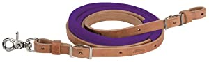 Weaver Leather Suede Covered Barrel Rein, 5/8-Inch x 8-Feet, Purple