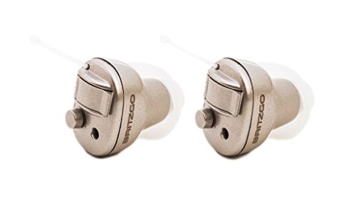 Britzgo Hearing Amplifier BHA-603D, Silver Gray, Invisible and Super Light, Best Choice for Parents