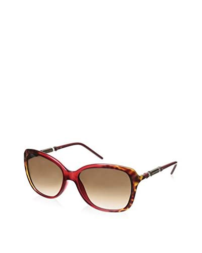 Givenchy Women's SGV814 Sunglasses, Plum Striped/Brown