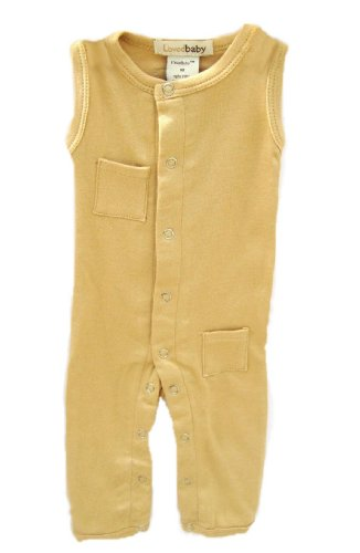 L'Ovedbaby Sleeveless Overall, Caramel 3-6 Months front-724407