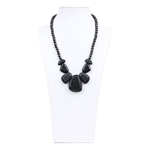 Bumkins Nixi Rocca Silicone Teething Necklace, Onyx
