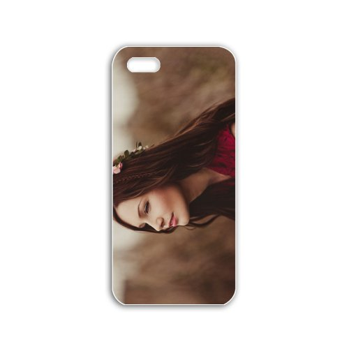 Make Apple Iphone 5C Babes Series Autumn Auburn Fairy wallpapers Autumn Auburn Fairy stock photos White Case of Unique Case Cover For Guays at Amazon.com
