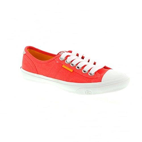 Low Pro Sneaker - Fluro Coral