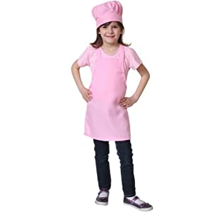 Pink Chef Hat & Apron, SM from Making Believe