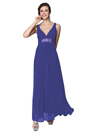 7e8e0d662e Ever Pretty Empire Waist Pleated Rhinestone V Neck Bridesmaid Dress 09449