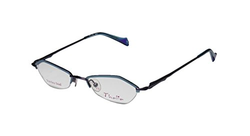Thalia Beso Womens/Ladies Designer Half-rim Eyeglasses/Eyewear (46-18-135, Blue / Purple) (Rock Star Rims Chrome compare prices)