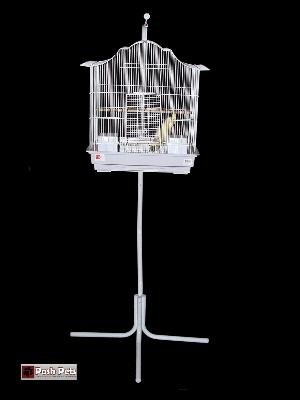 Cheap Dahak Extra Large White Tazmin Bird Cage And Matching Stand (PPD)