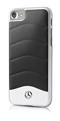 mercedes-benz-wave-iii-leder-aluminium-mehcp7cusbk-hardcover-handyhulle-apple-iphone-7-schwarz-mehcp