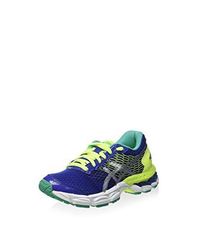 Asics Zapatos Gel-Nimbus 18 Gs Azul / Amarillo / Verde Agua