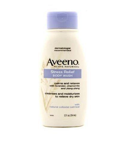 Imagen de Aveeno Activo Naturals Stress Relief Body Wash con lavanda, manzanilla y Ylang Ylang, de 12 onzas (paquete de 3)