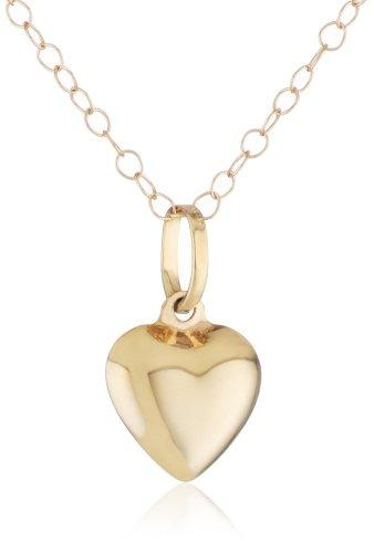 Duragold 14k Yellow Gold Puffed Heart Pendant